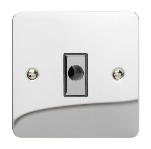 Varilight XFCFOD Ultraflat Polished Chrome 1 Gang 16A Flex Outlet Plate